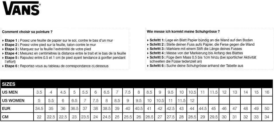 guide taille vans pas cher > Promotions jusqu^  72% r duction